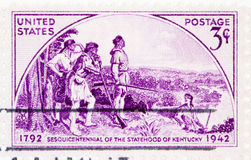 State of Kentucky Sesquicentennial, circa 1942 . USA - CIRCA 1942: A stamp printed by USA shows the state of Kentucky Sesquicentennial, circa 1942 Stock Photos