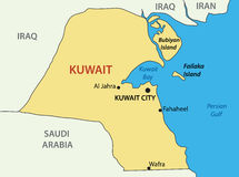 State of Kuwait -  vector map Royalty Free Stock Photos