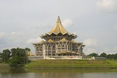 State Legislative Assembly building, Kuching, Malaysia. Stock Photo
