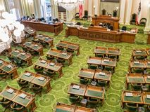 State legislature, California State Capitol. Legislature chamber, California State Capitol, Sacramento Stock Photo