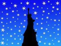 State of Liberty in winter Royalty Free Stock Photography