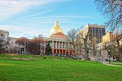 State Library of Massachusetts in Boston Common public park Royalty Free Stock Image