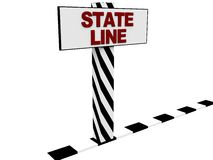State line Stock Photography