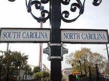 State line. North & south Carolina Stock Photo