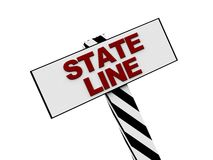 State line sign Royalty Free Stock Photos