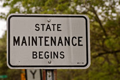 State Maintenance Begins Stock Images