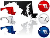 State of Maryland Icons Royalty Free Stock Images