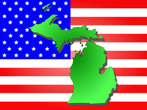 State of Michigan Royalty Free Stock Photos