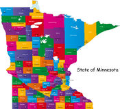 State of Minnesota Royalty Free Stock Photos