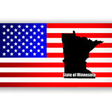 State of Minnesota Royalty Free Stock Photo