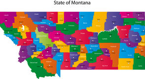 State of Montana Royalty Free Stock Images