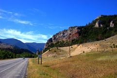 State montana mountain road Royalty Free Stock Photo