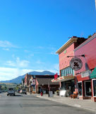 State montana rural center street Stock Image