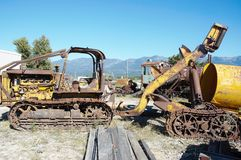 State montana rusty retro  logging machinery Royalty Free Stock Image