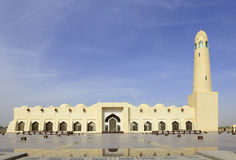 State Mosque, Qatar. Close-up view of the State Mosque in Doha, Qatar, Arabia stock photography
