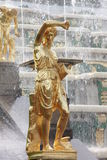 The State Museum Peterhof. Peterhof State Museum. Fountains of the Lower Park. Saint-Petersburg, Russia Stock Photos