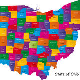State of Ohio Royalty Free Stock Photos