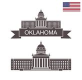 State of Oklahoma. Oklahoma State Capitol Building Royalty Free Stock Photo