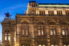 State Opera House in evening, Vienna Royalty Free Stock Photo
