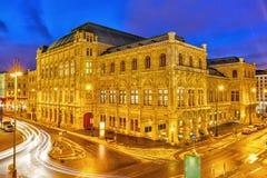 State Opera House, Vienna, Austria. Vienna's State Opera House at night, Austria Royalty Free Stock Photography