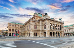 State Opera at sunrise - Vienna - Austria stock images