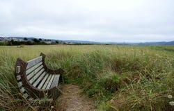 State Oregon.Seaside's bench Stock Photos