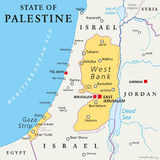 State of Palestine Political Map Royalty Free Stock Images