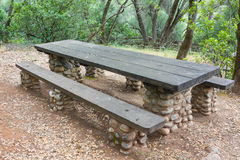 State Park Picnic Meal Table Royalty Free Stock Image