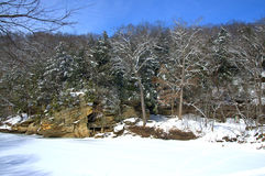 State park in winter Stock Photography