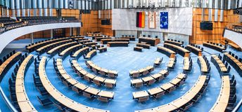 State parliament in Berlin stock image