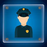 State police design Stock Images