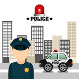 State police design Royalty Free Stock Photos