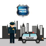 State police design Stock Photography