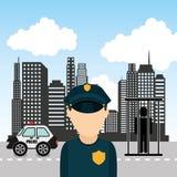 State police design Stock Image