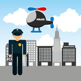 State police design Royalty Free Stock Images