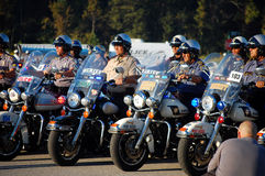 State Policemen on motorcycles Royalty Free Stock Photos