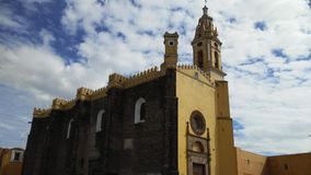 Mexican Catholic Church. The state of Puebla in Mexico is one of those that houses more churches that inherited us from the Spanish conquest and from that royalty free stock photography
