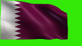 State of Qatar, Flag of Qatar - LOOP Royalty Free Stock Images