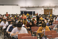 State Railway of Thailand appoint exams Stock Photo