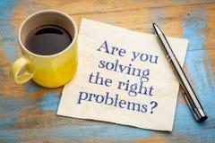 State risolvendo i giusti problemi? Fotografie Stock