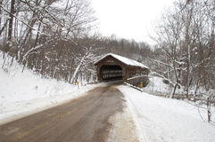 State Road Covered Bridge Stock Image