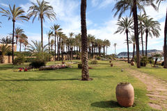 State run hotel garden Javea  Valencia Spain Stock Photo