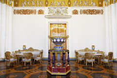 State Russian Museum, the interior of the white column hall Stock Photos