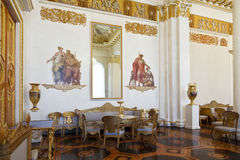 State Russian Museum, the interior of the white column hall, St. Petersburg stock photography