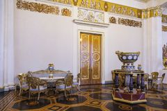 State Russian Museum, the interior of the white column hall, royalty free stock image