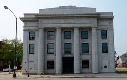State Savings Bank. This is a Summer picture of the Stony Island State Savings Bank located in the South Shore neighborhood of Chicago, Illinois.  The building Stock Image