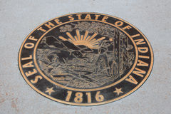 State Seal on display in downtown Saint Louis Royalty Free Stock Photos