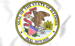 State Seal of Illinois, USA. Stock Photography