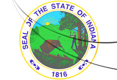 State Seal of Indiana, USA. Royalty Free Stock Photos