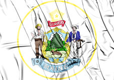 State Seal of the Maine state, USA. Royalty Free Stock Photo